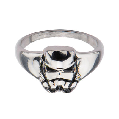 Star Wars® Stainless Steel Stormtrooper 3D Ring
