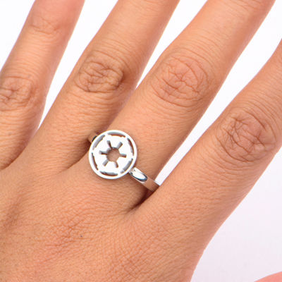 Star Wars® Stainless Steel Galactic Empire Symbol Cutout Ring