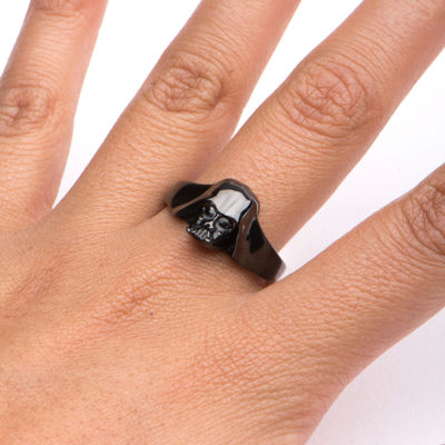 Star Wars® Black IP Stainless Steel Darth Vader 3D Ring