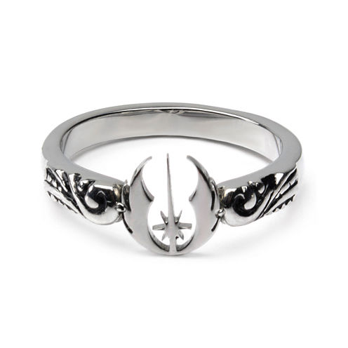 Star Wars® Stainless Steel Jedi Symbol Cutout Ring
