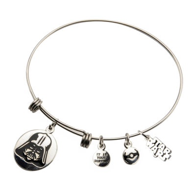 Star Wars® Stainless Steel Darth Vader Charm Bracelet