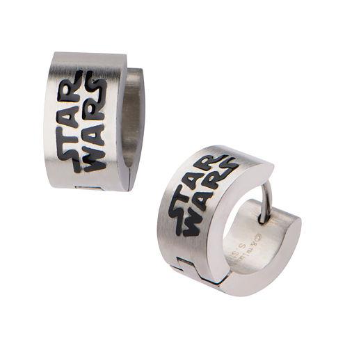 Star Wars® Stainless Steel Logo Hoop Earrings