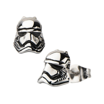 Star Wars® Stainless Steel Storm Trooper 3D Stud Earrings