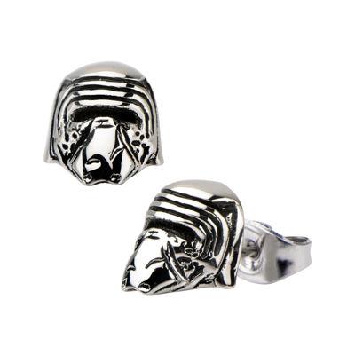 Star Wars® Stainless Steel Kylo Ren 3D Stud Earrings