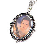 Star Wars® Stainless Steel Rey Cameo Pendant Necklace