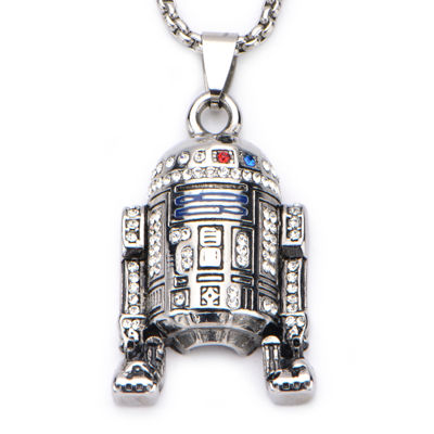 Star Wars® Stainless Steel R2D2 Pendant Necklace
