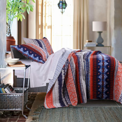 Greenland Home Fashions Urban Boho Reversible Quilt Set