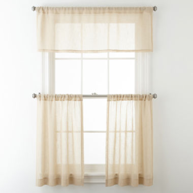 jcpenney.com | JCPenney Home™ Bayview Rod-Pocket Sheer Window Treatments
