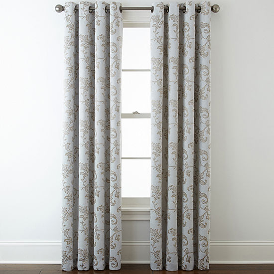 Home Expressions Light-Filtering Grommet-Top Single Curtain Panel