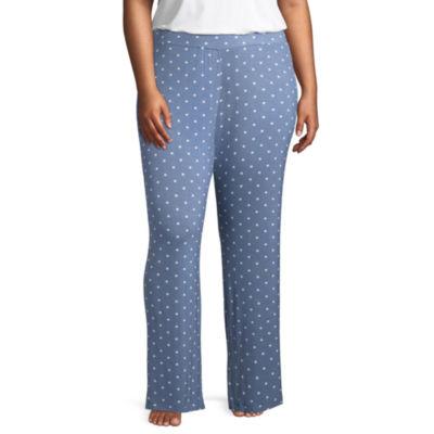 Ambrielle Knit Stripe Pajama Pants-Plus