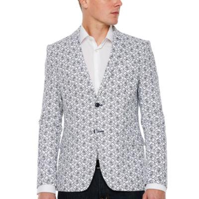JF J.Ferrar Slim Fit Floral Sport Coat - Slim