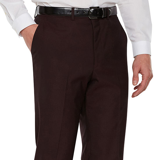 JF J.Ferrar Merlot Pulse Stretch Classic Fit Suit Pants