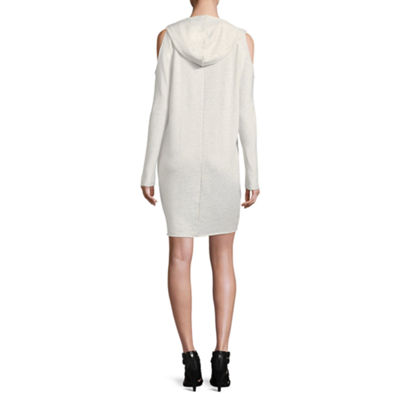 Project Runway Long Sleeve Cold Shoulder Sweatshirt Dress