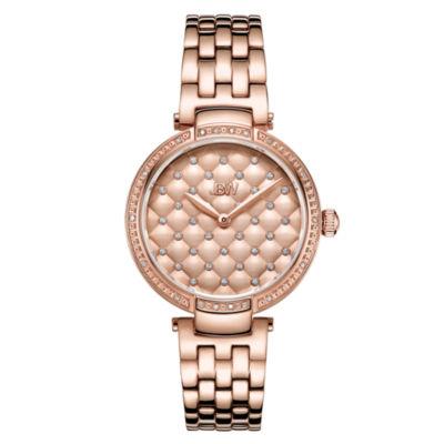 JBW 18 Diamonds At .18ctw Womens Rose Goldtone Bracelet Watch-J6356a