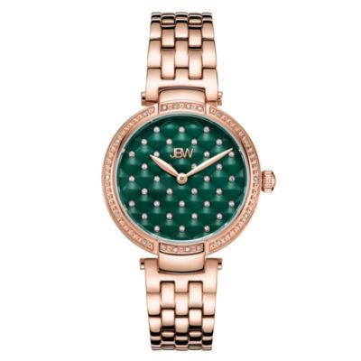 JBW 18 Diamonds At .18ctw Womens Rose Goldtone Bracelet Watch-J6356b