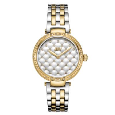 JBW 18 Diamonds At .18ctw Womens Gold Tone Bracelet Watch-J6356d