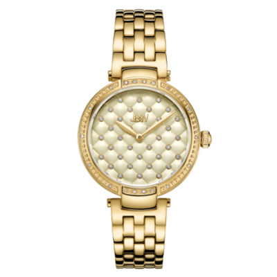 JBW 18 Diamonds At .18ctw Womens Gold Tone Bracelet Watch-J6356e