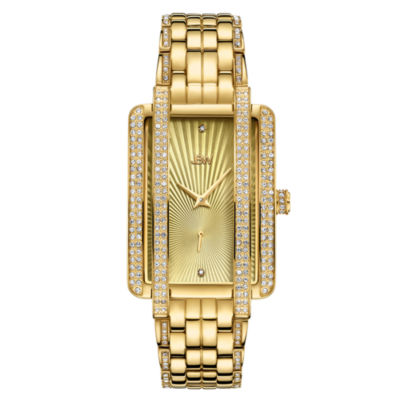 JBW 18K Gold Over Stainless Steel 1/8 CT. T.W Genuine Diamond Bracelet Watch-J6358b