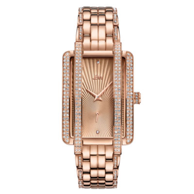 JBW 18K Rose Gold Over Stainless Steel 1/8 CT. T.W Genuine Diamond Bracelet Watch-J6358c