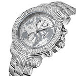 JBW 18 Diamonds At .18ctw Mens Silver Tone Bracelet Watch-J6360a