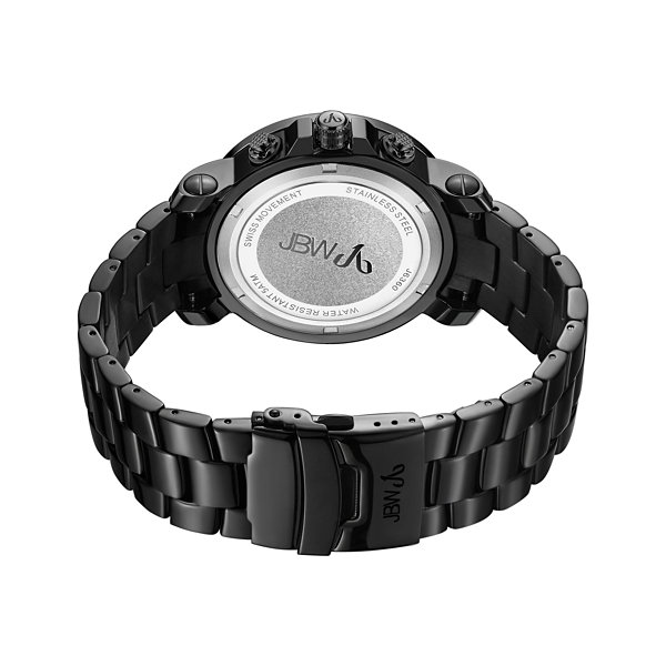 JBW 18 Diamonds At .18ctw Mens Black Bracelet Watch-J6360b