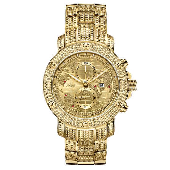 Jbw 18 Diamonds At 18ctw Mens Gold Tone Bracelet Watch J6360c