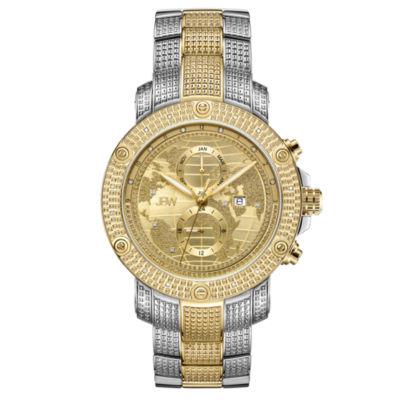 JBW 18 Diamonds At .18ctw Mens Two Tone Bracelet Watch-J6360d