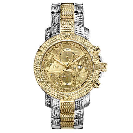 JBW 18K Gold Over Stainless Steel 1/5 CT. TW. Genuine Diamond Bracelet Watch-J6360d