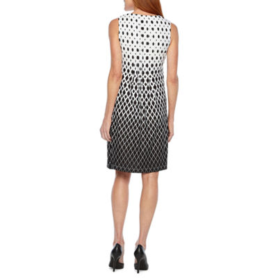 Perceptions Sleeveless Geometric Shift Dress