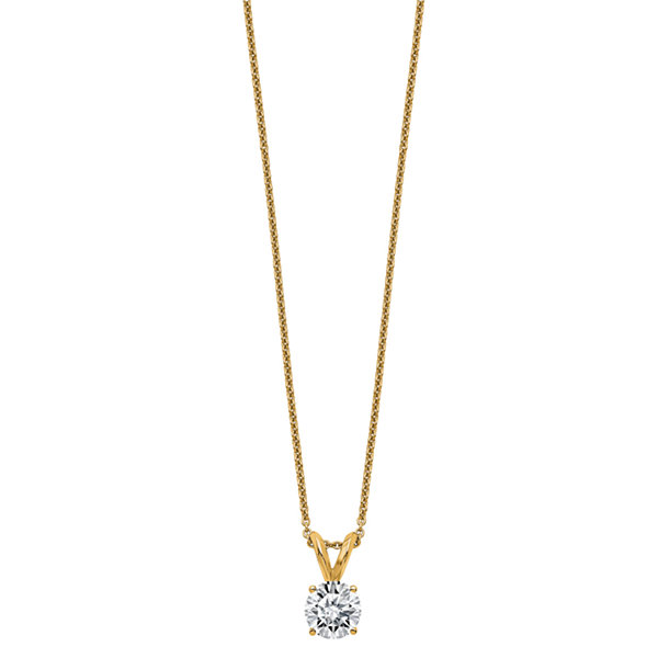 Womens 1 CT. T.W. White Moissanite 14K Pendant Necklace Set