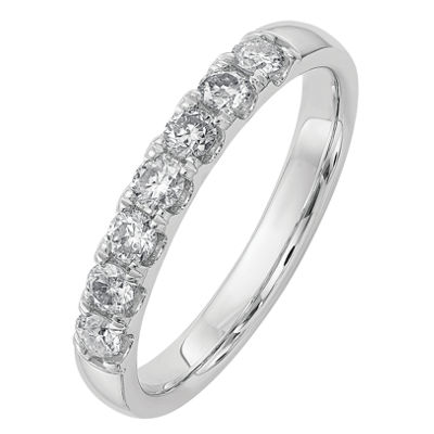 Womens 1/2 CT. T.W. White Moissanite 14K Gold Band