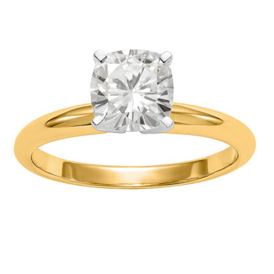 Womens 1/2 CT. T.W. Cushion White Moissanite 14K Gold Engagement Ring