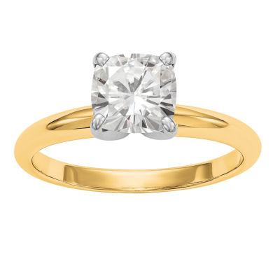 Womens 1 1/5 CT. T.W. Cushion White Moissanite 14K Gold Engagement Ring
