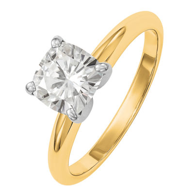 Womens 1 1/5 CT. T.W. White Moissanite 14K Gold Round Solitaire Engagement Ring