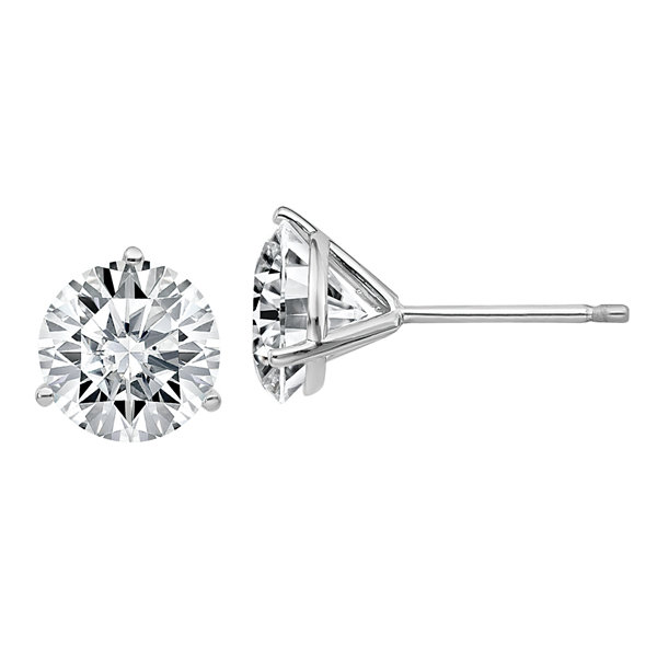 Fine Jewelry 2 3/4 CT. T.W. White Moissanite 14K White Gold 7.5mm Round Stud Earrings Nu2IG3Dbj8