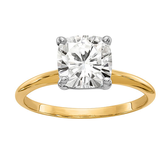 Womens 1 3/4 CT. T.W. White Moissanite 14K Gold Round Solitaire Engagement Ring