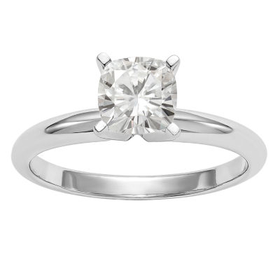 Womens 3/8 CT. T.W. Cushion White Moissanite 14K Gold Engagement Ring