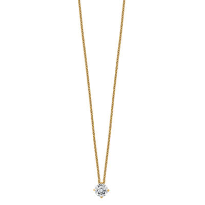 Womens 2-pc. 3/8 CT. T.W. White Moissanite 14K Gold Round Pendant Necklace Set