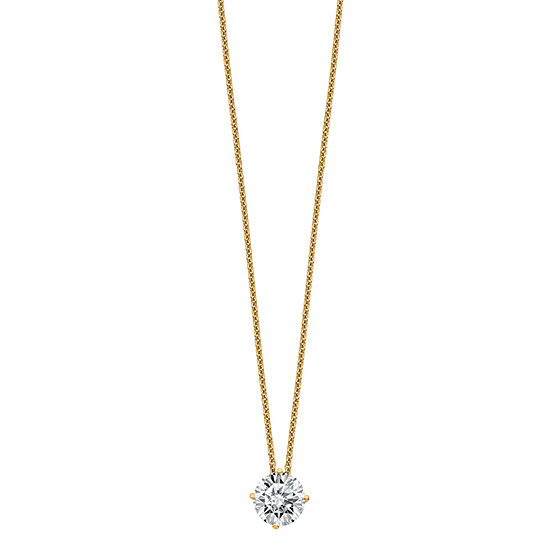 Womens 2-pc. 1 1/2 CT. T.W. White Moissanite 14K Gold Round Pendant Necklace Set