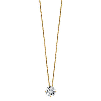 Womens 2-pc. 1 3/4 CT. T.W. White Moissanite 14K Gold Round Pendant Necklace Set
