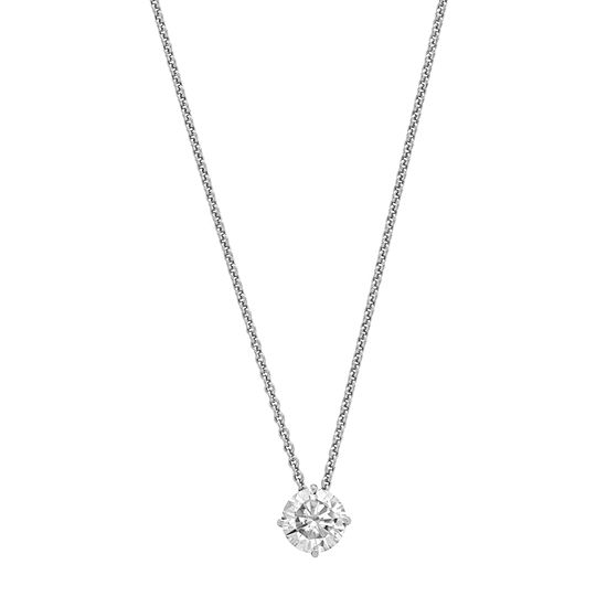 Womens 2-pc. 3/4 CT. T.W. White Moissanite 14K White Gold Round Pendant Necklace Set