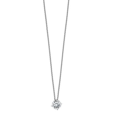 Womens 2-pack 1 CT. T.W. White Moissanite 14K Pendant Necklace Set