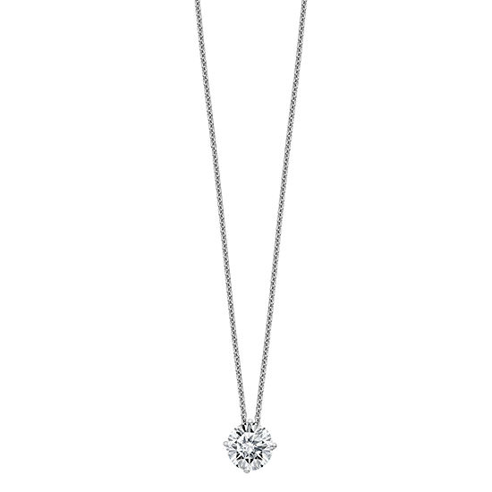 Womens 2-pc. 1 1/2 CT. T.W. White Moissanite 14K White Gold Round Pendant Necklace Set