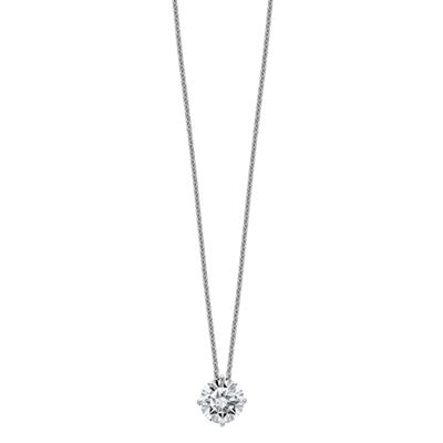 Womens 2-pc. 1 3/4 CT. T.W. White Moissanite 14K White Gold Round Pendant Necklace Set