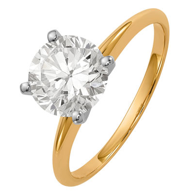Womens 1 1/2 CT. T.W. Round White Moissanite 14K Gold Engagement Ring