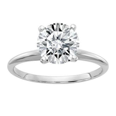 Womens 1 CT. T.W. Round White Moissanite 14K Gold Engagement Ring