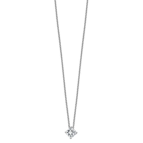 Womens 2-pc. 1/2 CT. T.W. White Moissanite 14K Pendant Necklace Set