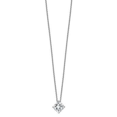 Womens 2-pc. 1 1/5 CT. T.W. White Moissanite 14K White Gold Square Pendant Necklace Set