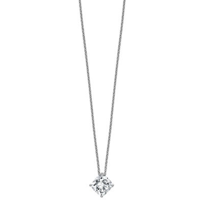 Womens 2-pc. 1 1/2 CT. T.W. White Moissanite 14K White Gold Square Pendant Necklace Set