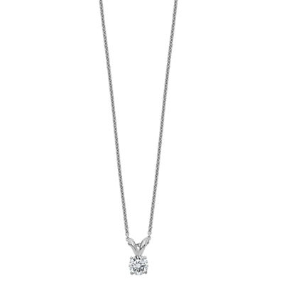 Womens 2-pc. 1/5 CT. T.W. White Moissanite 14K White Gold Round Pendant Necklace Set
